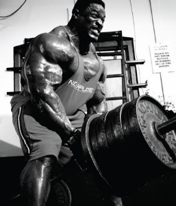 Ronnie Coleman doing some HEAVY T-bar Rows!