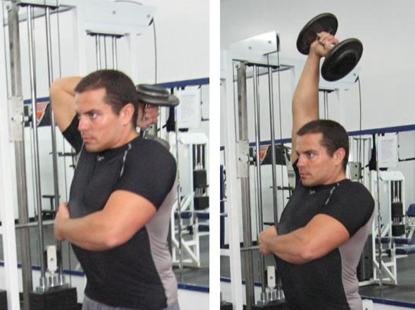 Overhead Tricep Extention - Dumbbell Extenstions
