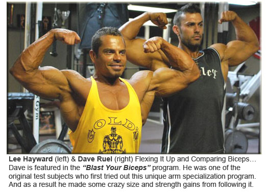 Lee Hayward & Dave Ruel Flexing Biceps!